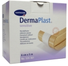 Dermaplast Sensitive wondpleister 5m x 6cm 5mx6cm