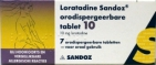 Sandoz Loratadine 10mg  7 tabletten