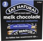 Eat Natural Peanut cranberry cashew macadamia chocolate 3x45g