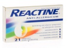 Reactine Cetirizine 10mg 21tb