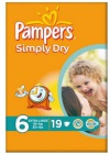 Pampers Pamper simply dry extra large 19st