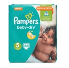Pampers Baby Dry Junior S5 Midpack 26st