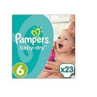 Pampers Baby dry XL 6 midpack 23st