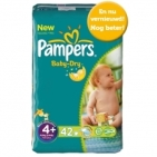 Pampers PAMPER BABY DRY MAXI PL 4+   42S . 42 stuks
