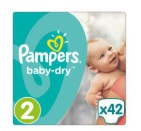 Pampers Baby Dry Mini S2 Midpack 42st