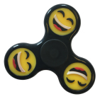 Fidget Spinner Smiley Zwart 1st