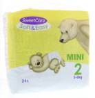 Sweetcare Luiers soft & easy mini nr 2 3-6kg 24st