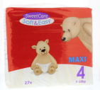 Sweetcare Luiers Soft & Easy Maxi nr 4 7-18 kg 27st