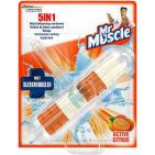 Mr Muscle 5 in 1 toiletblok active citrus bleek 41g