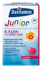 Davitamon Junior 2+ Kauwtabletten Aardbei 120 tabletten