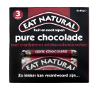 Eat Natural Pure chocolade cranberry macadamia 45 gram 3x45g