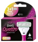 Wilkinson Scheermesjes Quattro Woman Sensitive 3+1 1 stuk