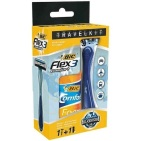 Bic Travelkit Flex 3 + Comfort Foam Sensitive 90 ml 1set