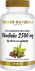 Golden Naturals Rhodiola 2500mg 60 tabletten