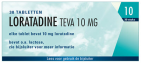 Teva Loratadine 10mg 30 tabletten