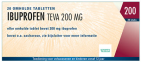 Teva Ibuprofen 200mg 20 tabletten