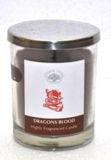Green Tree Geurkaars dragons blood glas 200g