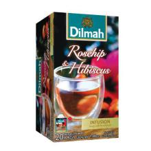 Dilmah Rozenbottels & hibiscus infusion 20st