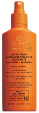 Collistar Zonnebrand Supertanning Moisturizing Milk Spray SPF15 200ml
