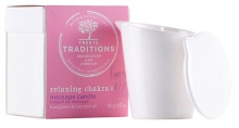Treets Relaxing chakra´s massage candle 140g