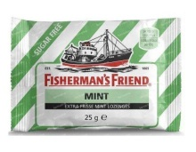 Fishermansfriend Strong Mint Groen/Wit Suikervrij 1 stuk