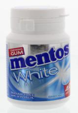 Mentos Gum sweetmint white pot 40st