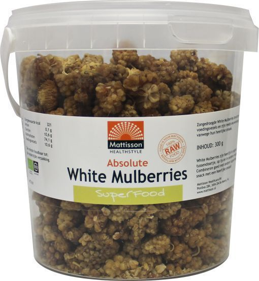Mattisson Voedingssupplementen absolute white mulberry raw 300g