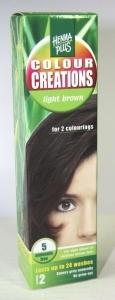 Hennaplus Kleurshampoo colour creations 5 light brown 60ml