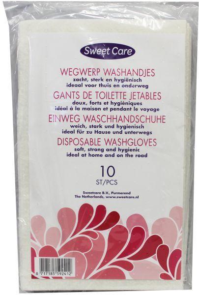Sweetcare Baby wegwerpwashandjes 10st