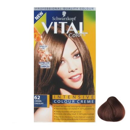 Schwarzkopf Vital colors haarverf caramel chocolate 62 1 stuk