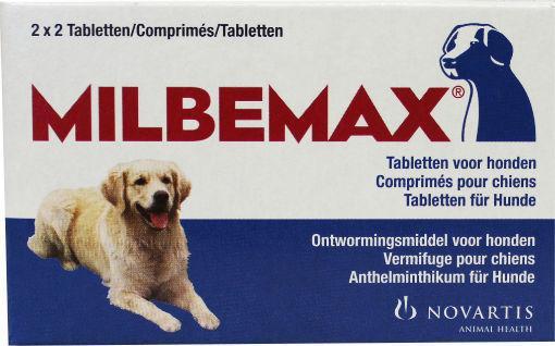 Milbemax Grote hond 2x2 ontwormingstabletten 4st