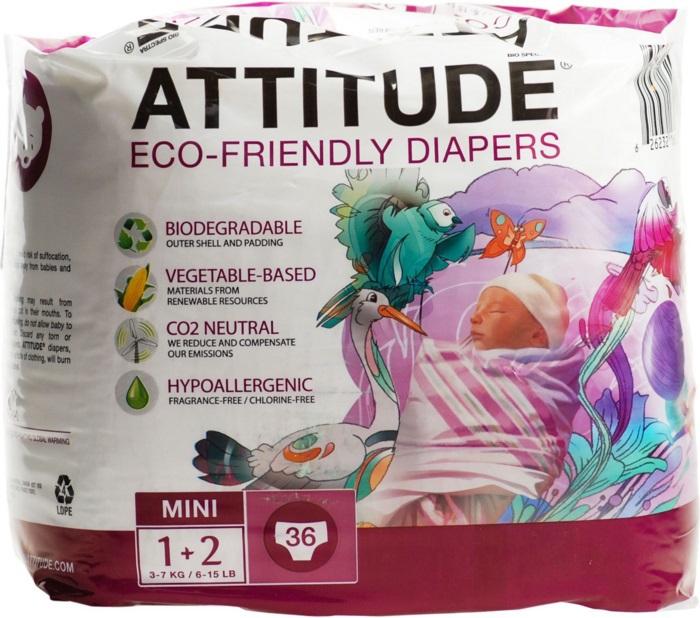 Attitude Luiers 3 Mini 3-7 Kilo 4-6mnd 36stuks