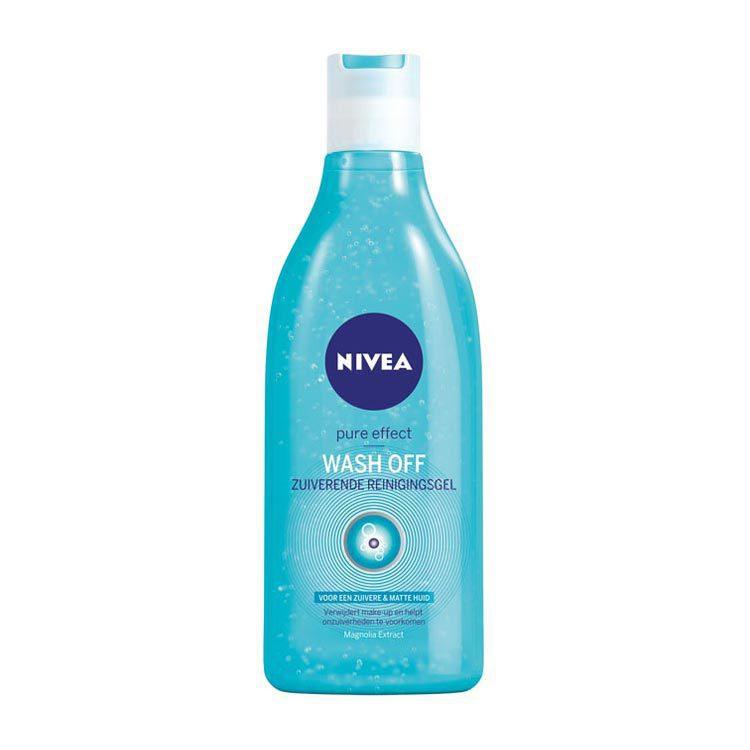 Nivea Visage Pure Effect Wash Off Zuiverende Reinigingsgel 200ml