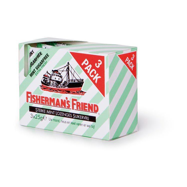 Fishermansfriend Snoep strong mint groen wit suikervrij 24 x 1st