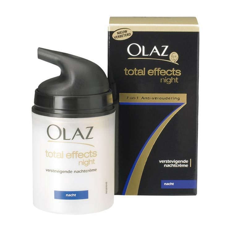 olaz anti rimpel nachtcreme total effects 50 ml. Black Bedroom Furniture Sets. Home Design Ideas