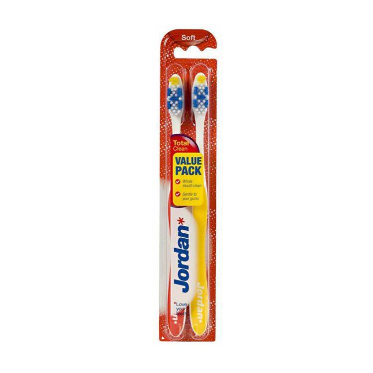 Jordan Tandenborstel Totalclear Soft set van 2 tandenborstels Stuk