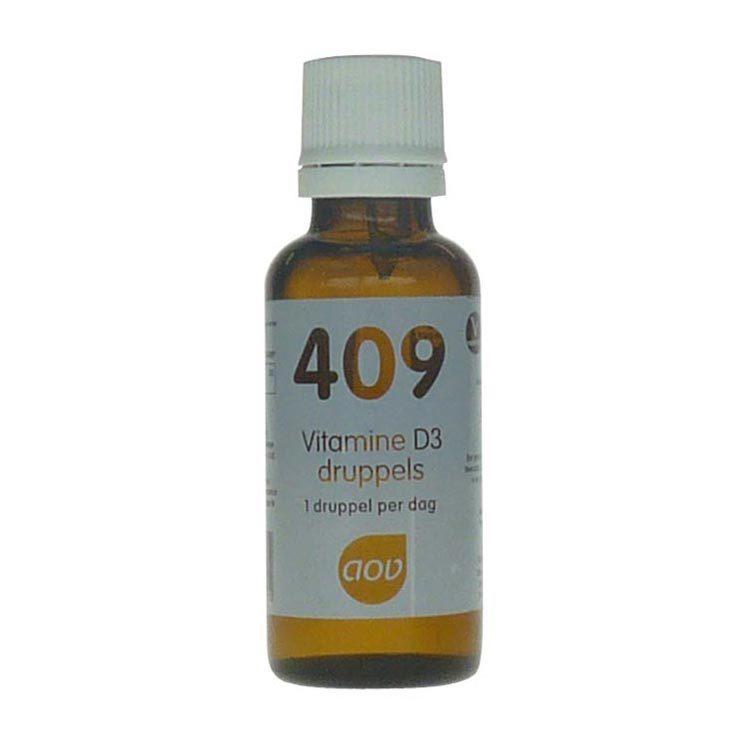 Aov 409 Vitamine D3 druppels 25mcg 15ml