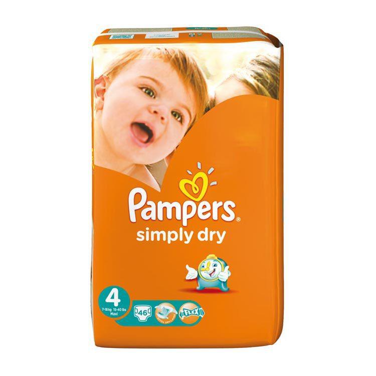 Pampers Simply dry maxi voordeel 2 x 46st