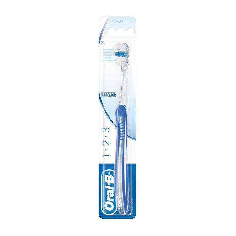 Oral B 1.2.3 Tandenborstel Medium Stuk