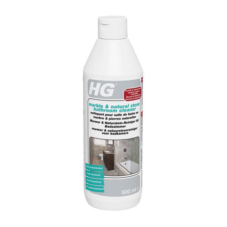 een paar druppels hg marmer cleaner op een vochtige spons is al ...
