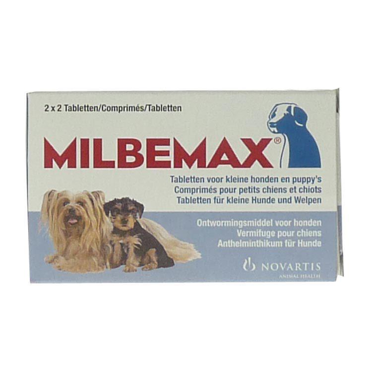 Milbemax Kleine hond 2x2 tabletten ontworming 4st