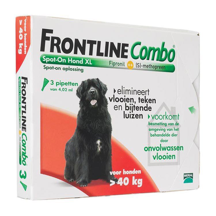 Frontline Combo hond xl 40 kg bestrijding vlo en teek 3st