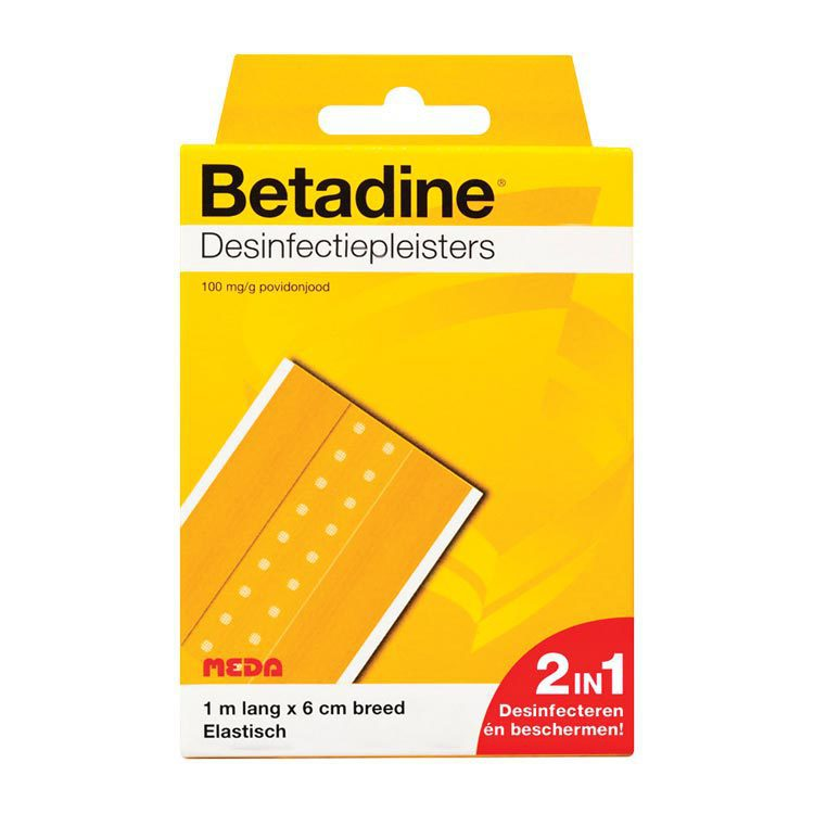 Betadine Desinfecterende pleister 1m x 6 cm 1mx6cm