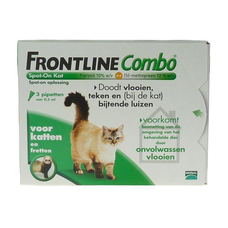 Frontline Combo kat bestrijding vlo en teek 3st