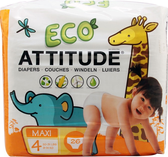 Attitude Luiers 4 Maxi 9-14 Kg 12-18mnd 26stuks