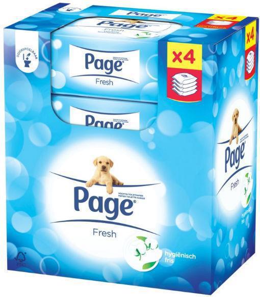Page Vochtig Toiletpapier.Vochtig Toiletpapier Navul Fresh 4 Pack