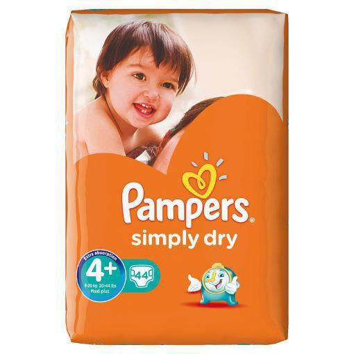 Pampers Simply dry maxi plus voordeelpak 44st