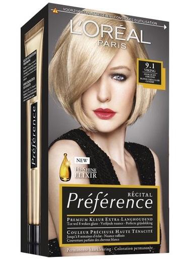 L'Oréal Paris Preference Viking Zeer Licht Asblond 9.1 1st
