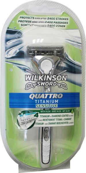 Wilkinson Quattro titanium sensitive scheerapparaat 1st
