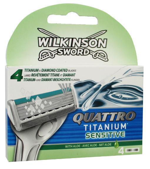 Wilkinson Scheermesjes quattro titanium sensitive 4st